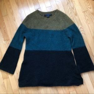 French Connection color block sweater mohair blend